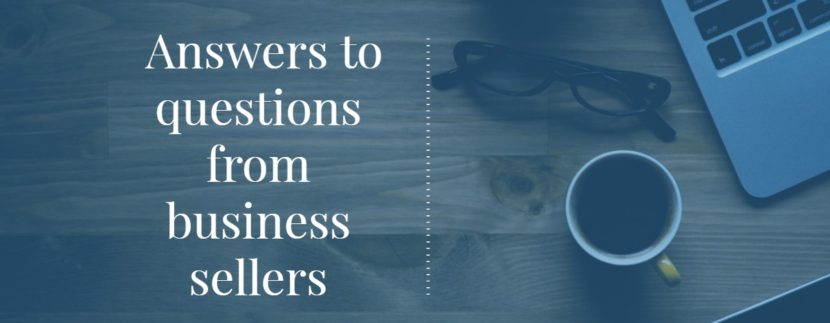 Answers to questions from business sellers